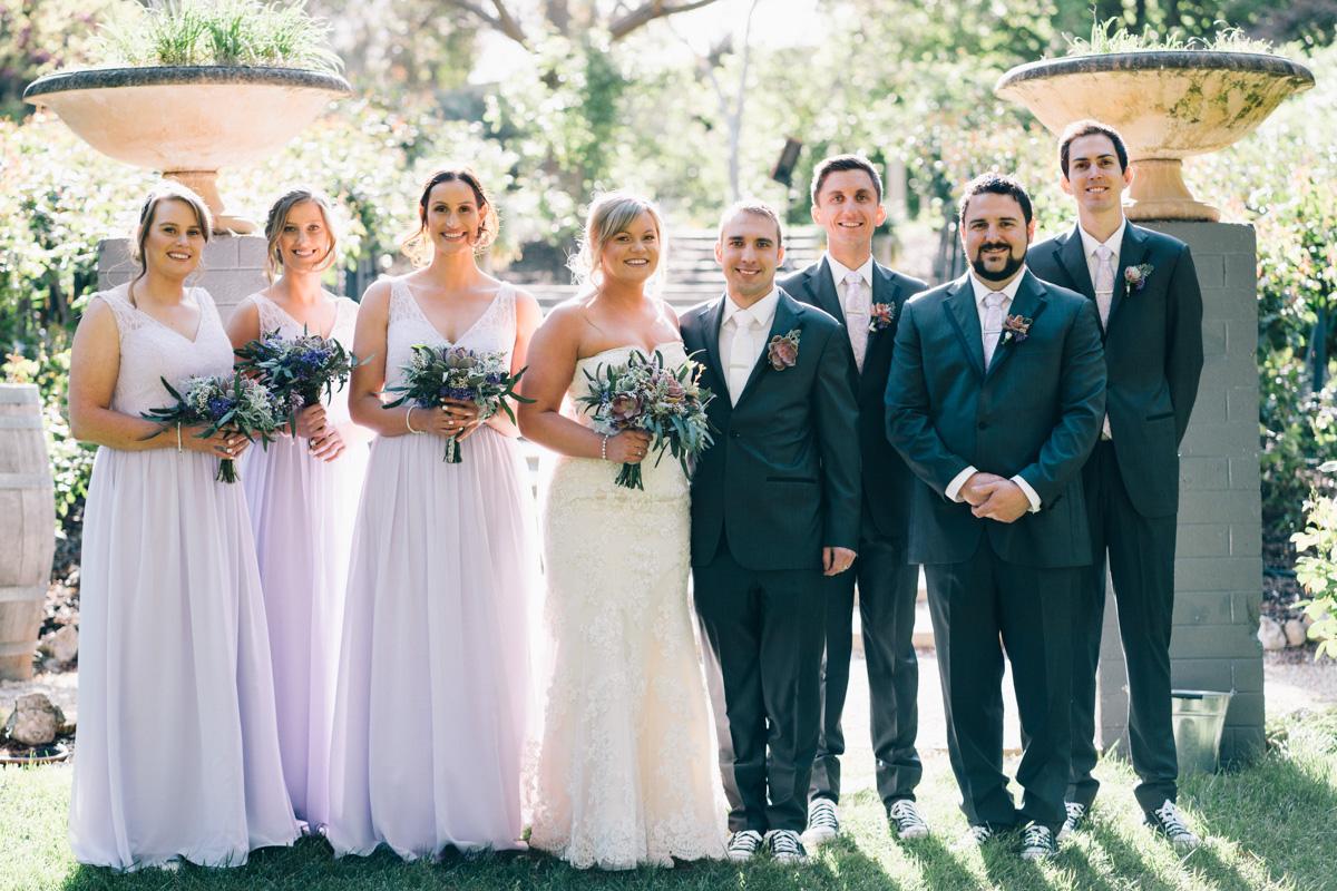 bridal party at Barossa Chateau Wedding