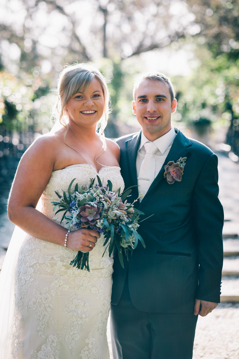 bride and groom at Barossa Chateau Wedding