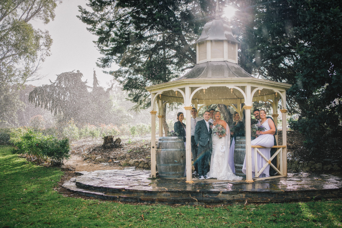 Bridal party photos after Barossa Chateau wedding