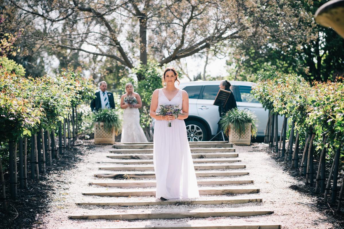 Bridesmaid walking down at Barossa Chateau Wedding
