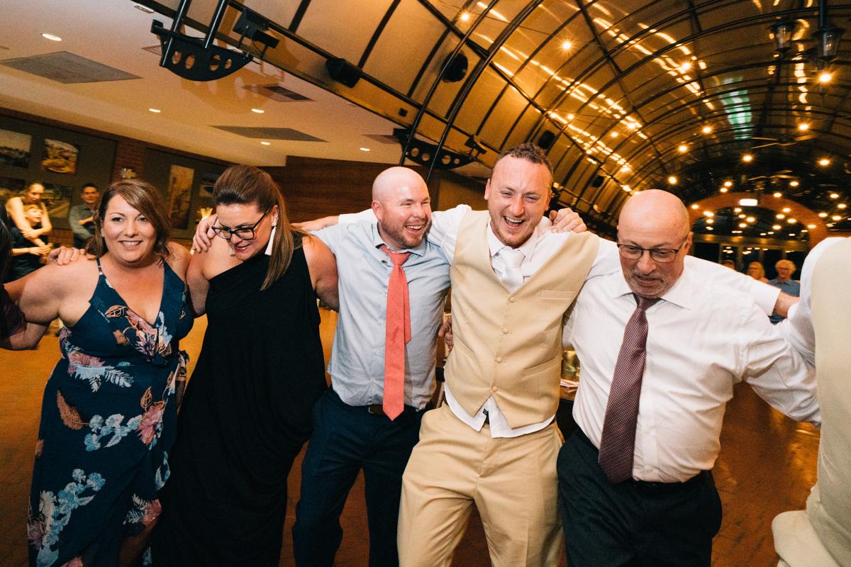 Greek Dancing at Wedding serafino wines