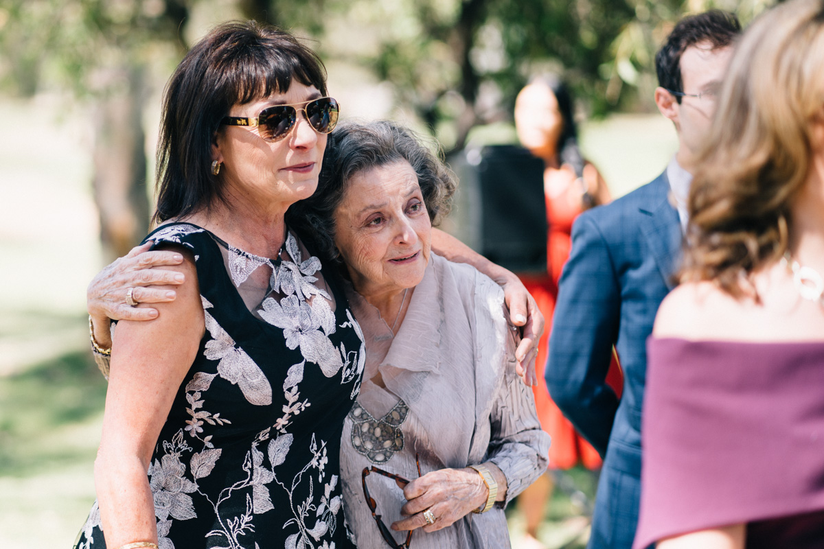 grandmother and mother of the bride at serafino wines