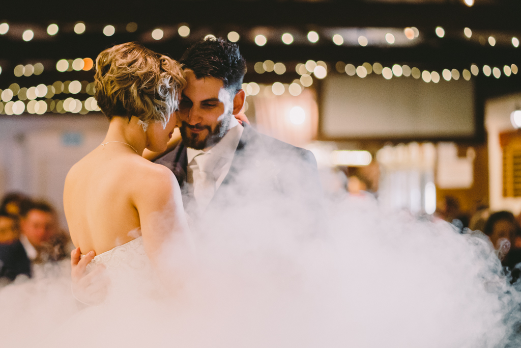 Bride & Groom First Dance dry ice