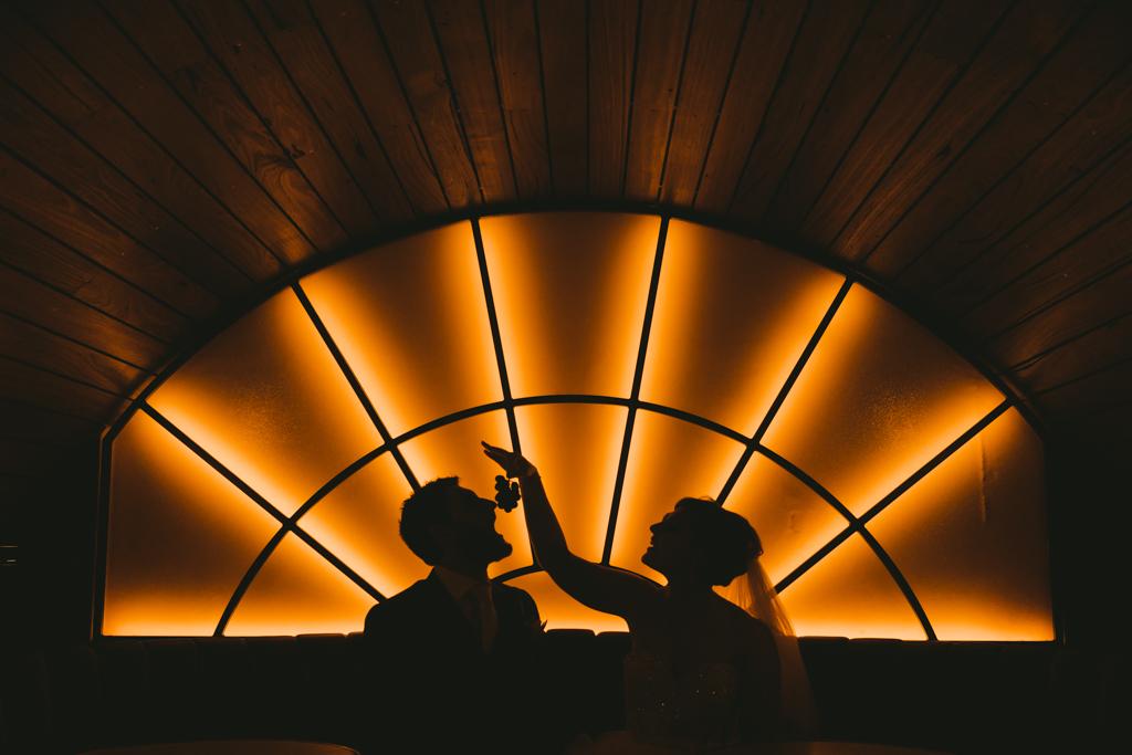 Bride & Groom Silhouette Grapes