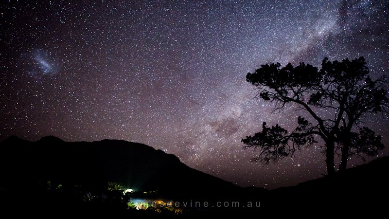 Milky Way over Wilpena Pound, Flinders Ranges, South Australia
