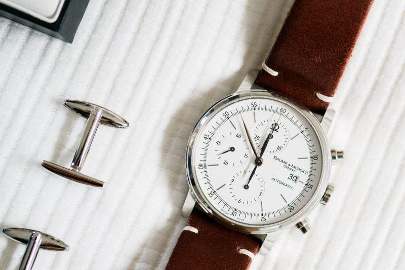 Watch with cufflinks