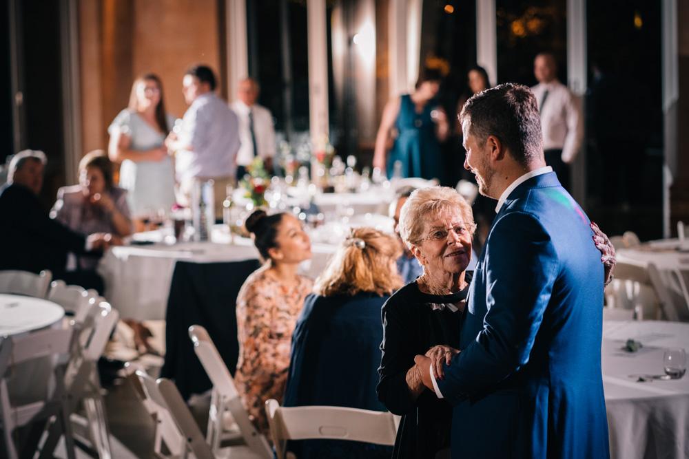 groom dancing with grandmother