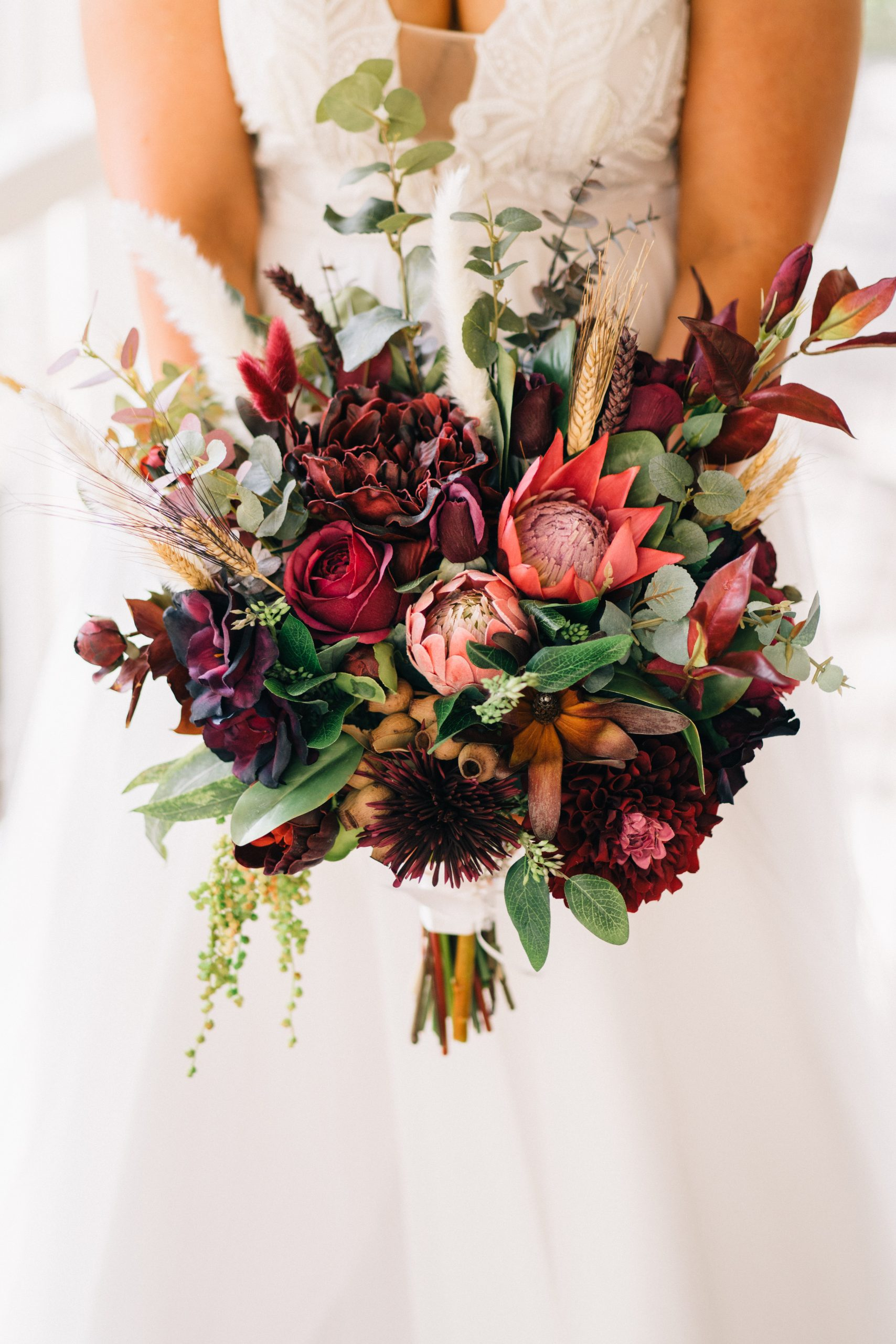 brides flower bouquet before the wedding at brooklyn farm