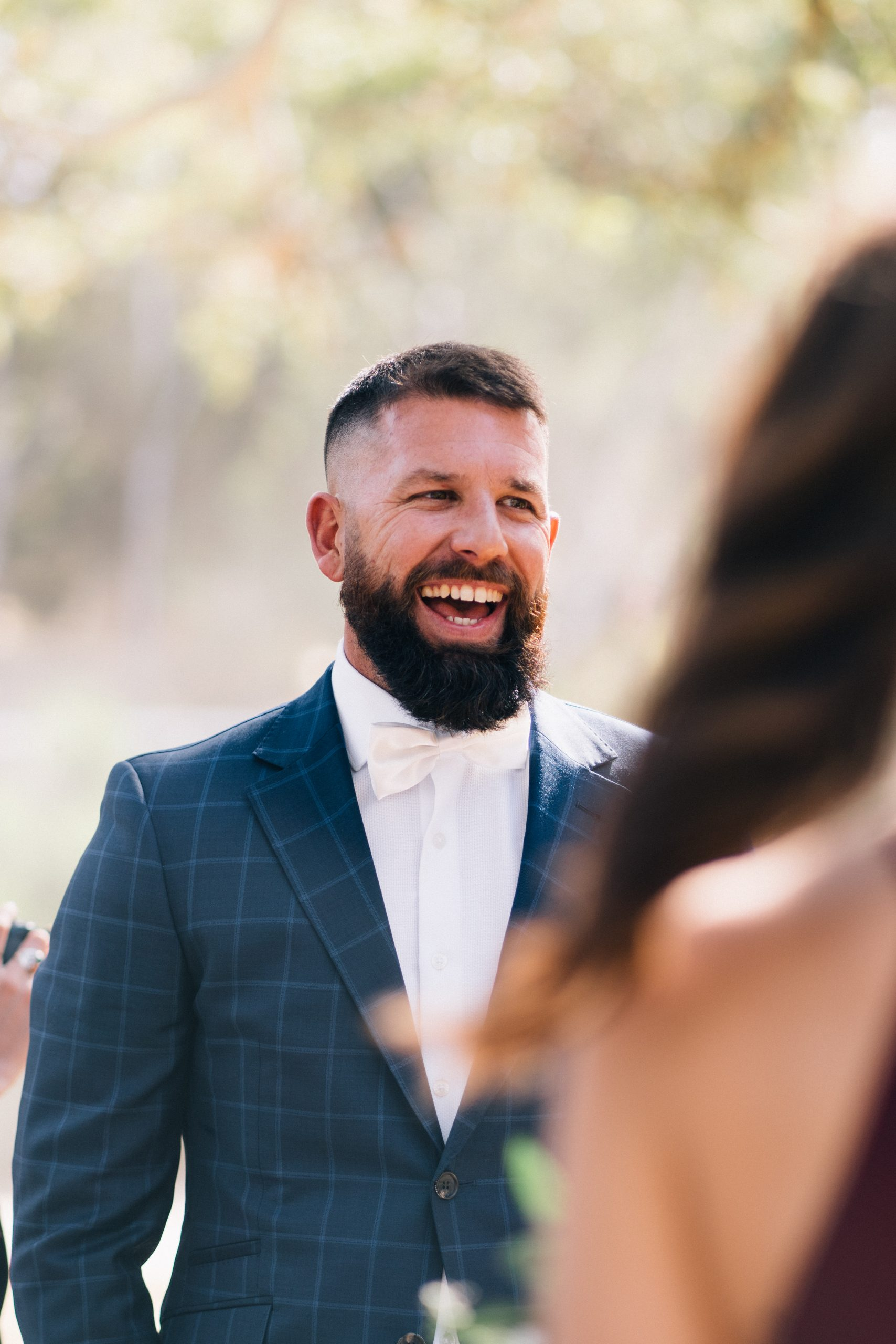 groom laughing
