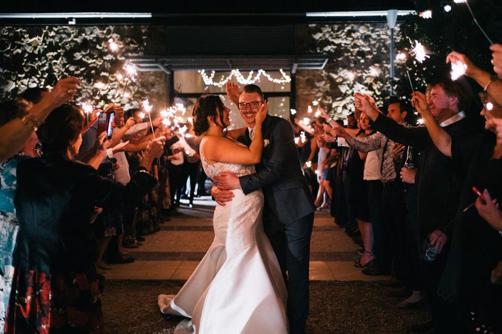 bride & groom sparklers