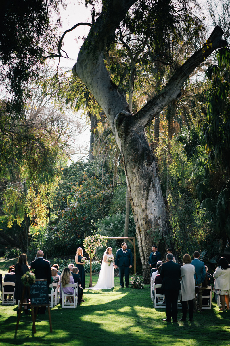 adelaide botanic gardens wedding ceremony
